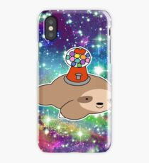 Gumball Machine Sloth Rainbow Space iPhone Case
