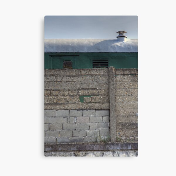 Another Hole in the Wall (and a Green Train) Canvas Print