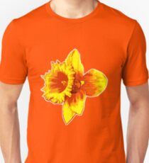 Blood Orange Atomic Daffodil, Fire Flower, Apocalyptic Garden T-Shirt