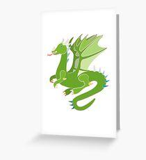 Adorable Green Dragon Greeting Card