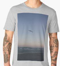 seagull, ocean, and sunset Men's Premium T-Shirt
