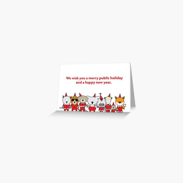 Merry Public Holiday Greeting Card