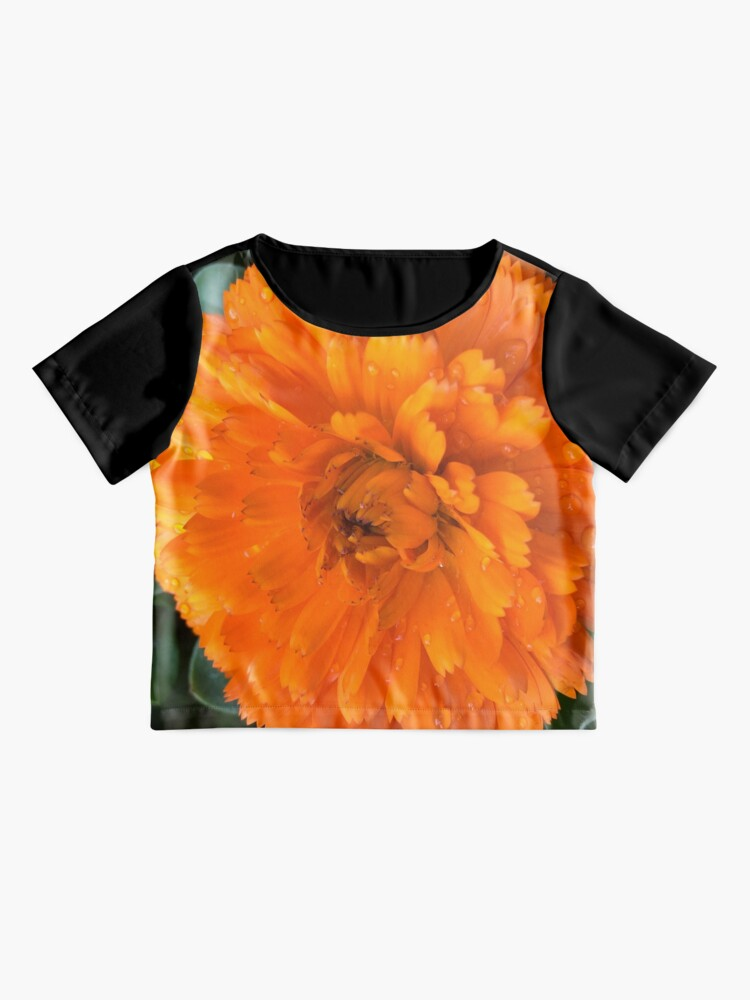 Alternate view of Marigold with Raindrops Chiffon Top