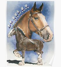Clydesdale Horse Poster
