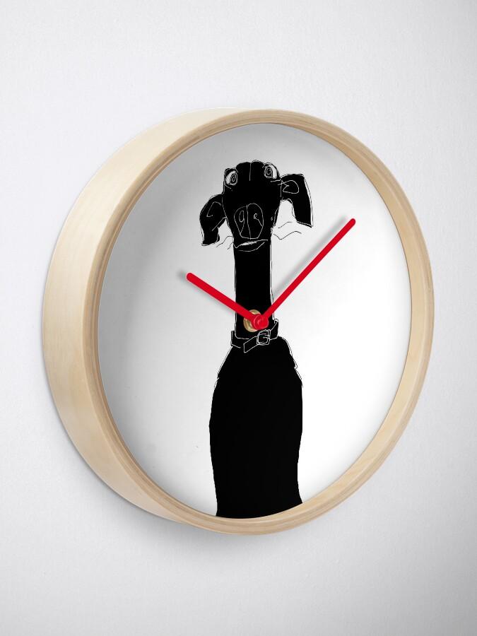 Alternate view of neck (Pixel the greyhound) Clock