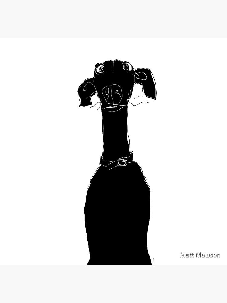 neck (Pixel the greyhound) by mmawson