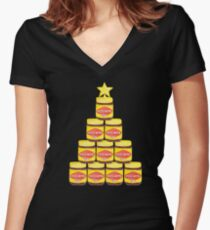 Have a Mitey Chrissy - Black Women's Fitted V-Neck T-Shirt