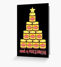 Have a Mitey Chrissy - Black Greeting Card