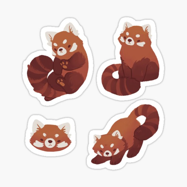 Red Pandas Sticker