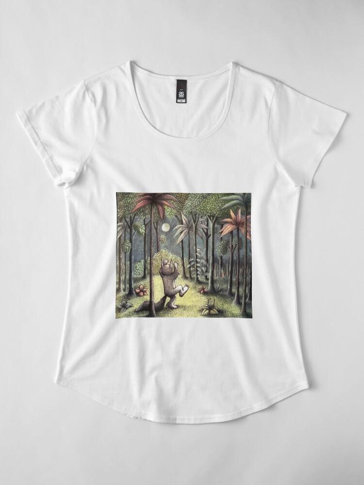 Alternative Ansicht von Wo die wilden Dinge sind Premium Rundhals-Shirt