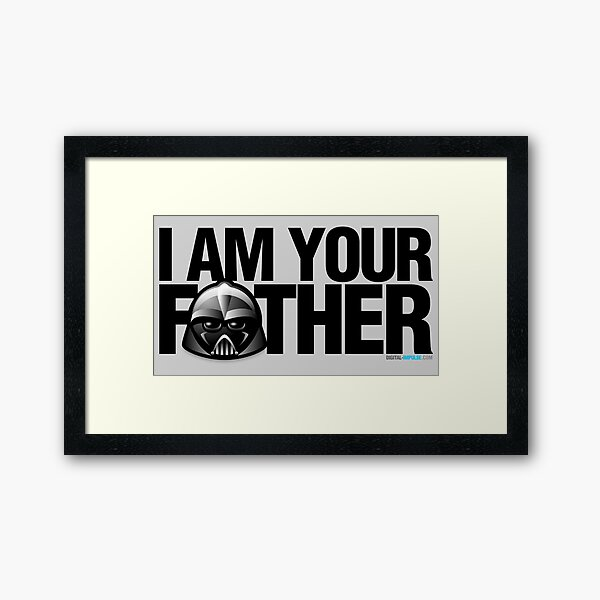 SW - I am your father Framed Art Print