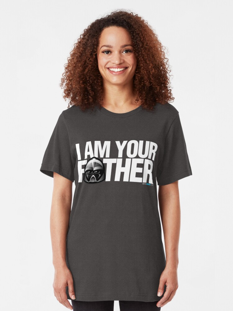 Alternate view of SW - I am your father - Dark Version Slim Fit T-Shirt