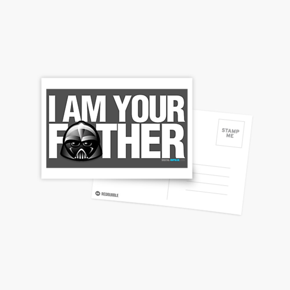 SW - I am your father - Dark Version Postcard