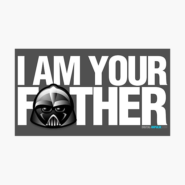 SW - I am your father - Dark Version Photographic Print