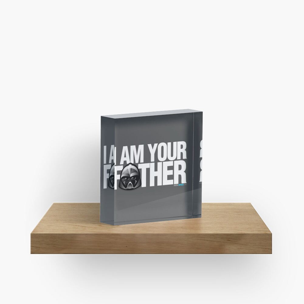 SW - I am your father - Dark Version Acrylic Block