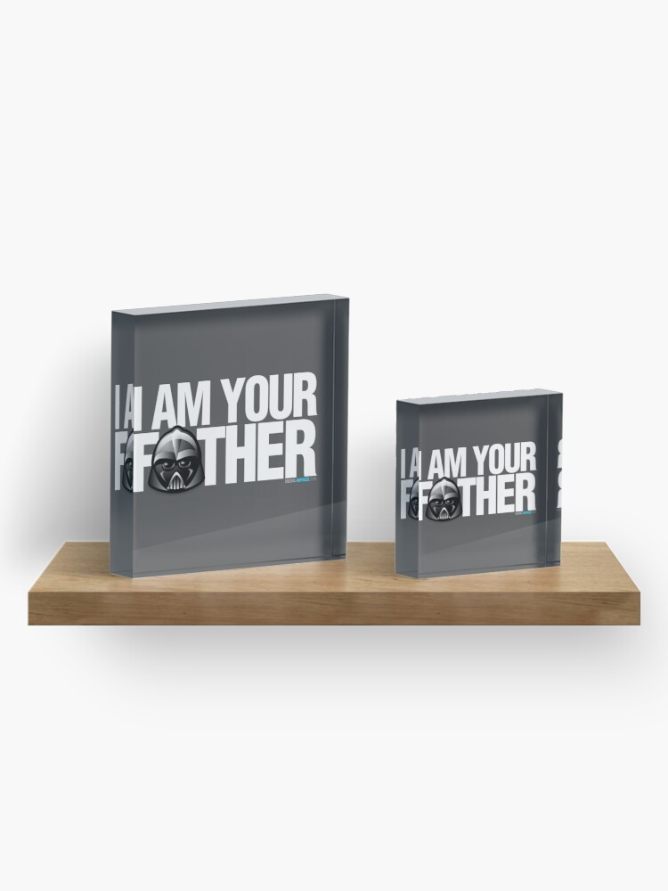 Alternate view of SW - I am your father - Dark Version Acrylic Block
