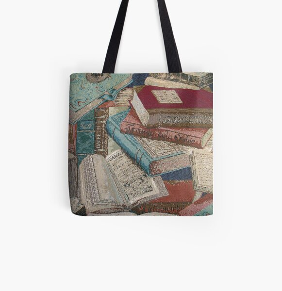 Escape With A Book Vintage Books All Over Print Tote Bag