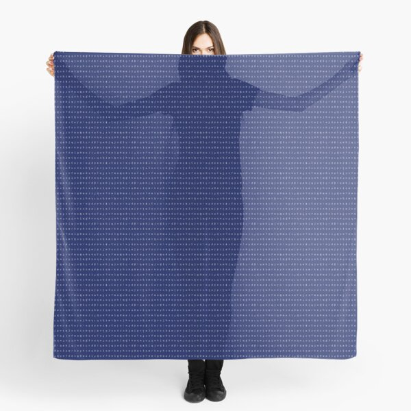IPA scarf - navy blue and white Scarf