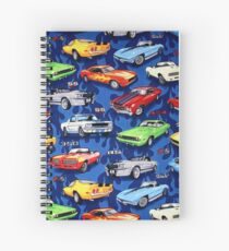 Auto Sports Muscle Cars Pattern Spiral Notebook