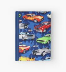 Auto Sports Muscle Cars Pattern Hardcover Journal
