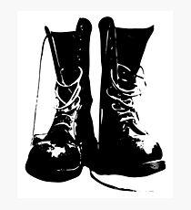 Punk Rock Combat Boots Doc Martens Photographic Print