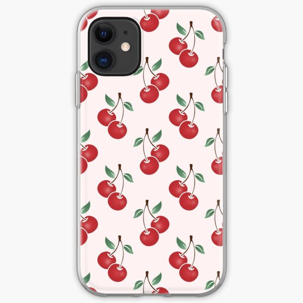 Cherry Pattern iPhone Soft Case