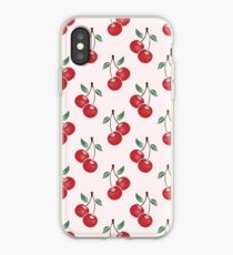 Cherry Pattern iPhone-Hülle & Cover