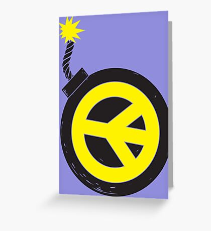 Peace Bomb Greeting Card