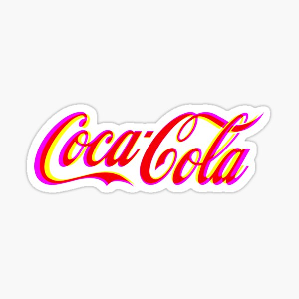 Fringed Coca Cola Sign Sticker