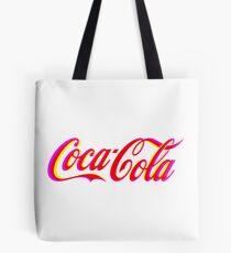 Fringed Coca Cola Sign Tote Bag