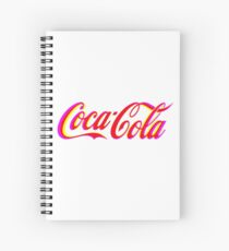 Fringed Coca Cola Sign Spiral Notebook