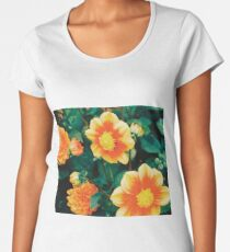 Orange Flowers .- Women's Premium T-Shirt