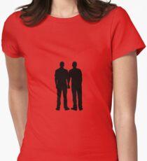 Men holding hands Women's Fitted T-Shirt
