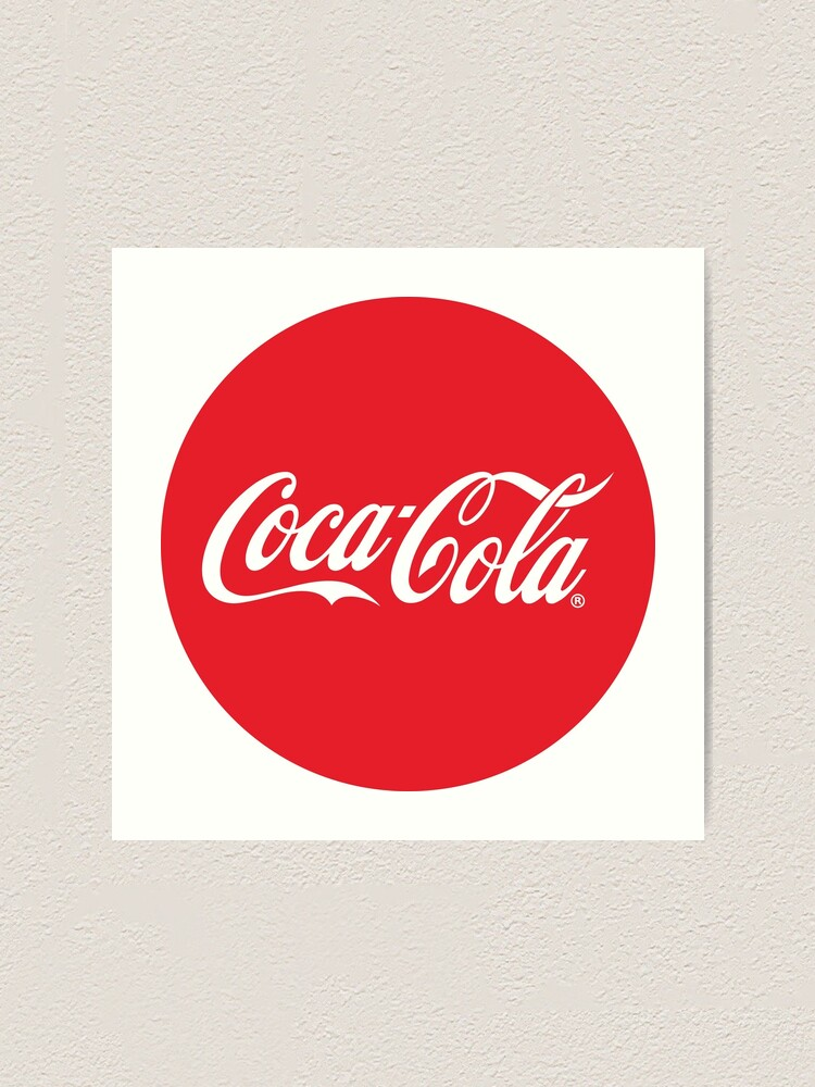 4 Sizes Available! Typography Coca Cola Printed Canvas Picture