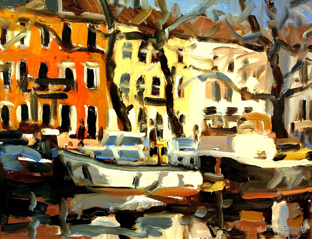 CANAL BOATS by Brian Simons