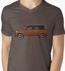 Vectored Boxcar Copper Mens V-Neck T-Shirt
