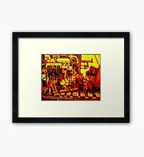 MARINE ENGINE Framed Print