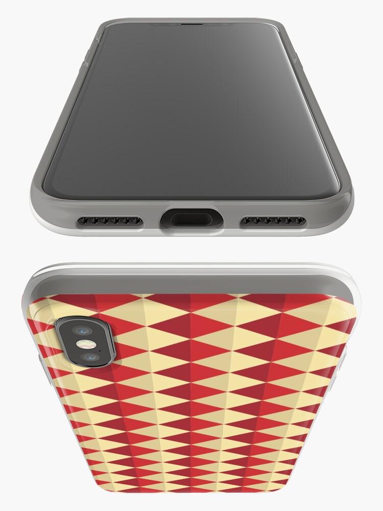 Alternate view of Geometric Pattern: Split Diamond: Red iPhone Case & Cover