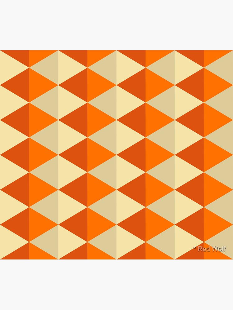 Geometric Pattern: Split Diamond: Orange by redwolfoz