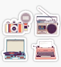Go Analog Retro Aufkleber Set Hipster Style Sticker