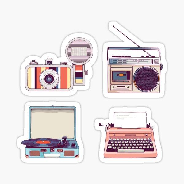 Gehen Sie analog Retro Aufkleber Set Hipster Style Sticker