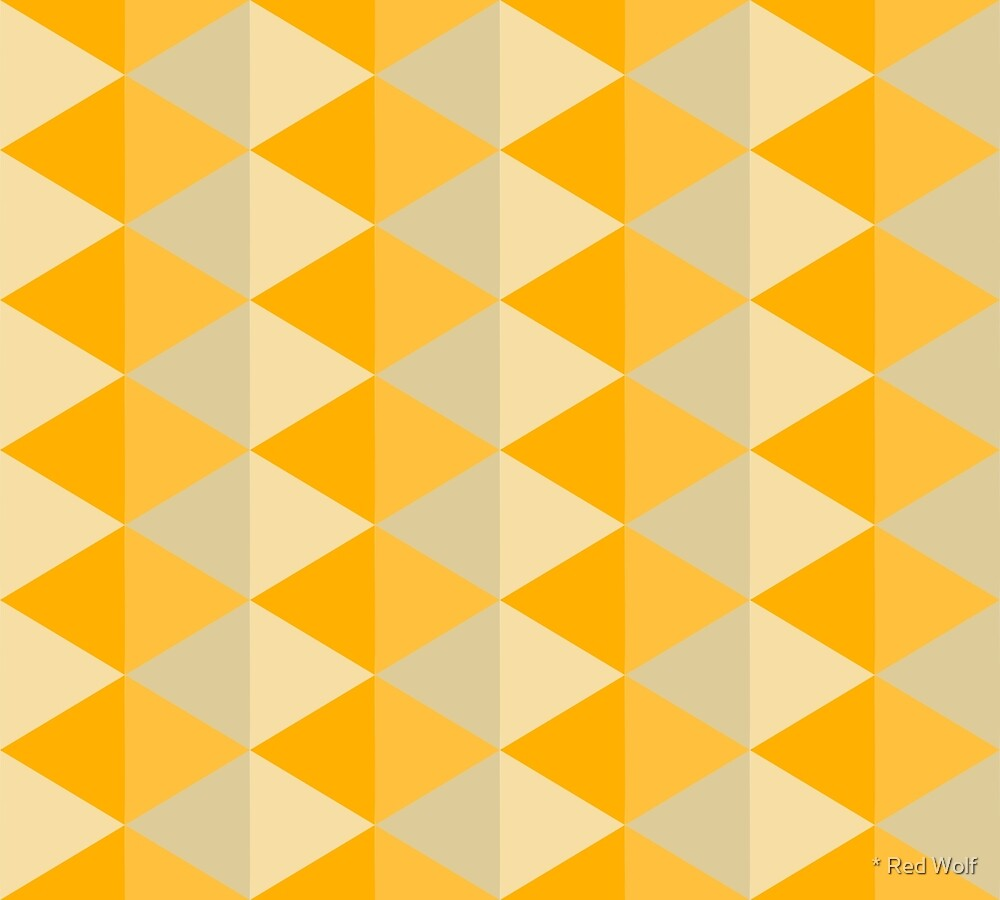 Geometric Pattern: Split Diamond: Yellow by * Red Wolf