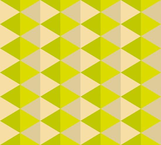 Geometric Pattern: Split Diamond: Green by * Red Wolf