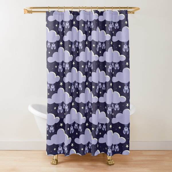 Dreaming bats Shower Curtain