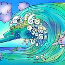 Everybody's Out Body Surfing Today! by Angela Treat Lyon