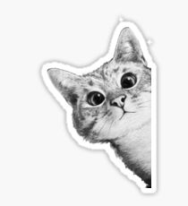 Cute Cat Face, Sweet Christmas Gift, Ugly Sweater Sticker