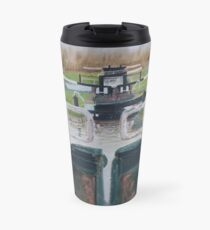 Looking down Hurleston locks from lock No 2 Travel Mug
