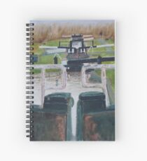 Looking down Hurleston locks from lock No 2 Spiral Notebook