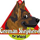 German Shepherd On Board by DoggyGraphics