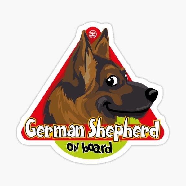 German Shepherd On Board Sticker